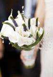 Γαμήλια ανθοδέσμη των άσπρων λουλουδιών Στοκ Φωτογραφία