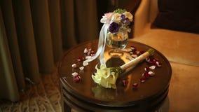 Γαμήλια ανθοδέσμη callas που βρίσκονται στον πίνακα απόθεμα βίντεο