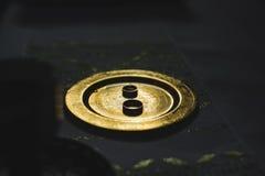 Γαμήλια δαχτυλίδια με τον κόκκινο χρυσό Στοκ Φωτογραφίες