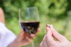 Γαμήλια δαχτυλίδια σε ετοιμότητα Στοκ Εικόνα