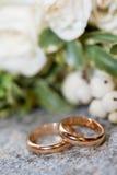 Γαμήλια δαχτυλίδια στοκ φωτογραφίες με δικαίωμα ελεύθερης χρήσης