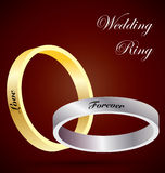 Γαμήλια δαχτυλίδια Στοκ φωτογραφία με δικαίωμα ελεύθερης χρήσης