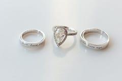 Γαμήλια δαχτυλίδια Στοκ εικόνα με δικαίωμα ελεύθερης χρήσης