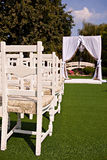 Γαμήλια αψίδα με έναν πολυέλαιο Στοκ Εικόνες