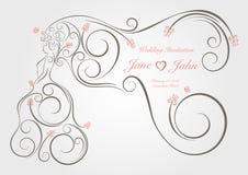 Γαμήλια γραφική διακόσμηση Στοκ Φωτογραφία