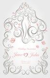 Γαμήλια γραφική διακόσμηση Στοκ εικόνα με δικαίωμα ελεύθερης χρήσης