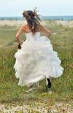 γαμήλια γυναίκα δραπέτη φορεμάτων νυφών Στοκ Εικόνα