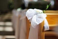 Γαμήλια διακόσμηση εκκλησιών στοκ εικόνες με δικαίωμα ελεύθερης χρήσης