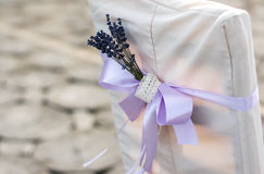 Γαμήλια διακόσμηση των καρεκλών Στοκ Εικόνες