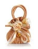 Γαμήλια διαμορφωμένη εύνοια τσάντα με ηλέκτρινο Στοκ Εικόνες