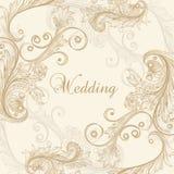 Γαμήλια διανυσματική ευχετήρια κάρτα Στοκ φωτογραφία με δικαίωμα ελεύθερης χρήσης