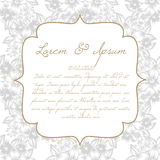 Γαμήλια κάρτα Στοκ Εικόνες