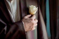 Γαμήλια μπουτονιέρα Στοκ Εικόνες