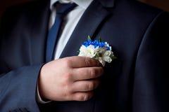 Γαμήλια μπουτονιέρα Στοκ Φωτογραφίες