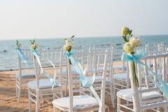 Γαμήλια οργάνωση παραλιών στοκ εικόνα με δικαίωμα ελεύθερης χρήσης