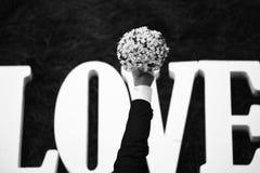 Γαμήλια λουλούδια αγάπης Στοκ Εικόνα