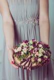 Γαμήλια λουλούδια εκμετάλλευσης παράνυμφων Στοκ εικόνες με δικαίωμα ελεύθερης χρήσης