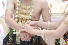 Γαμήλια πομπή στην περιοχή της Ιάβας Ινδονησία Στοκ φωτογραφίες με δικαίωμα ελεύθερης χρήσης