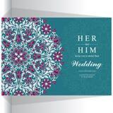 Γαμήλια πρόσκληση ή κάρτα με το αφηρημένο υπόβαθρο Στοκ Εικόνα