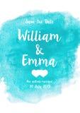 Γαμήλια πρόσκληση με το υπόβαθρο watercolor ελεύθερη απεικόνιση δικαιώματος