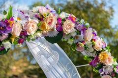 Γαμήλια τελετή διακοσμήσεων Παραλαβές γαμήλιων διακοσμήσεων Στοκ εικόνα με δικαίωμα ελεύθερης χρήσης