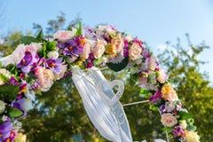 Γαμήλια τελετή διακοσμήσεων Παραλαβές γαμήλιων διακοσμήσεων Στοκ Εικόνα