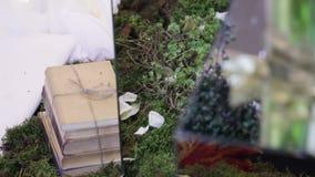 Γαμήλια τελετή καθρεφτών ντεκόρ στοιχείων απόθεμα βίντεο