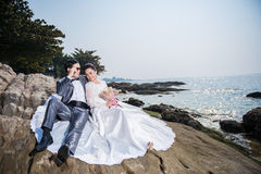 Γαμήλια τελετή παραλιών Στοκ εικόνα με δικαίωμα ελεύθερης χρήσης