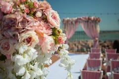 Γαμήλια υπαίθρια διακόσμηση Στοκ φωτογραφίες με δικαίωμα ελεύθερης χρήσης