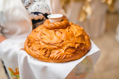 Γαμήλια φραντζόλα με το άλας Στοκ Φωτογραφία