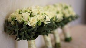 Γαμήλιες ανθοδέσμες των τριαντάφυλλων απόθεμα βίντεο