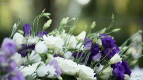 Γαμήλιες ανθοδέσμες απόθεμα βίντεο