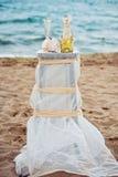 Γαμήλιες λεπτομέρειες παραλιών Στοκ Εικόνες