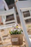 Γαμήλιες λεπτομέρειες παραλιών Στοκ Φωτογραφία