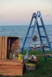 Γαμήλιες λεπτομέρειες παραλιών Στοκ φωτογραφία με δικαίωμα ελεύθερης χρήσης