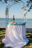Γαμήλιες λεπτομέρειες παραλιών Στοκ Φωτογραφίες