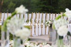 Γαμήλιες καρέκλες Στοκ εικόνες με δικαίωμα ελεύθερης χρήσης