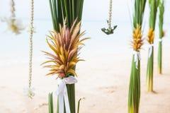 Γαμήλιες floral διακοσμήσεις Στοκ Εικόνα