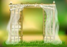 Γαμήλιος κήπος ελεύθερη απεικόνιση δικαιώματος