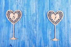 Γαμήλιος ξύλινος αριθμός Στοκ εικόνες με δικαίωμα ελεύθερης χρήσης