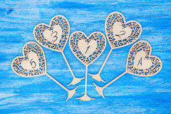Γαμήλιος ξύλινος αριθμός Στοκ εικόνα με δικαίωμα ελεύθερης χρήσης