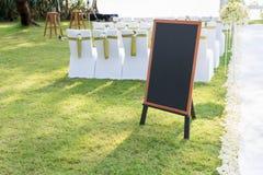 Γαμήλιος πίνακας κιμωλίας Στοκ Φωτογραφίες