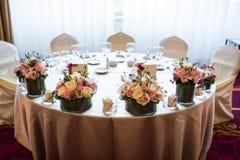 Γαμήλιος πίνακας νυφών και νεόνυμφων στοκ φωτογραφίες με δικαίωμα ελεύθερης χρήσης
