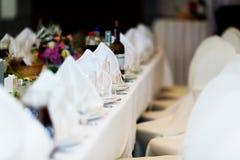 Γαμήλιος πίνακας που θέτει, δίκρανο πιάτων Στοκ εικόνες με δικαίωμα ελεύθερης χρήσης