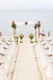 Γάμος στην παραλία. στοκ εικόνα με δικαίωμα ελεύθερης χρήσης