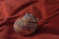 Γαμήλιο δαχτυλίδι διαμαντιών Στοκ εικόνες με δικαίωμα ελεύθερης χρήσης