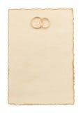 Γαμήλιο δαχτυλίδι και ηλικίας έγγραφο Στοκ εικόνα με δικαίωμα ελεύθερης χρήσης