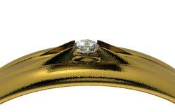 Γαμήλιο δαχτυλίδι με το διαμάντι Στοκ φωτογραφία με δικαίωμα ελεύθερης χρήσης