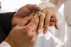 Γαμήλιο δαχτυλίδι φορεμάτων Στοκ εικόνα με δικαίωμα ελεύθερης χρήσης