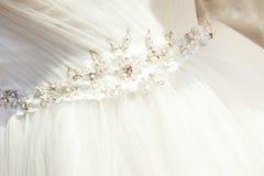 γαμήλιο λευκό φορεμάτων Στοκ Εικόνες